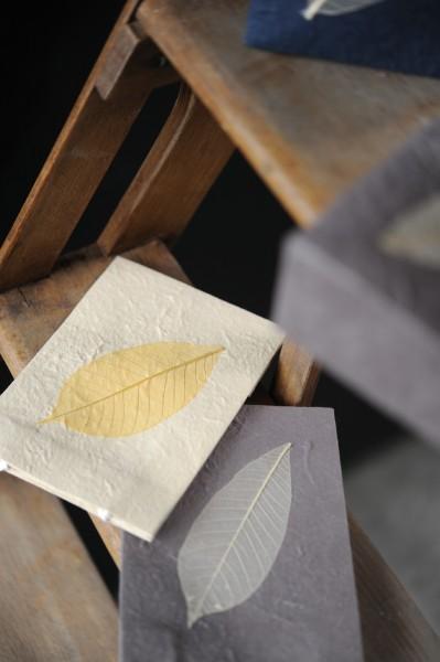 Tasche aus handgeschöpftem Papier, weiß, B 11 cm, H 16 cm