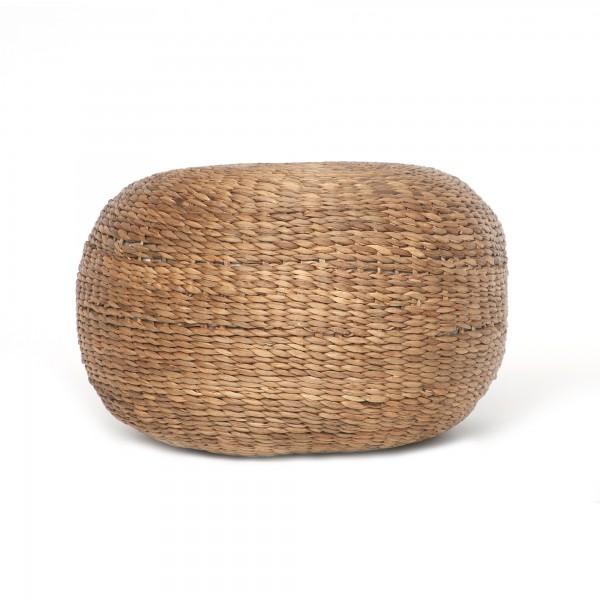Pouf 'Deneb', natur, Ø 60 cm, H 30 cm