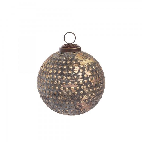 Anhänger Kugel Dots, silber, Ø 10 cm, H 10 cm