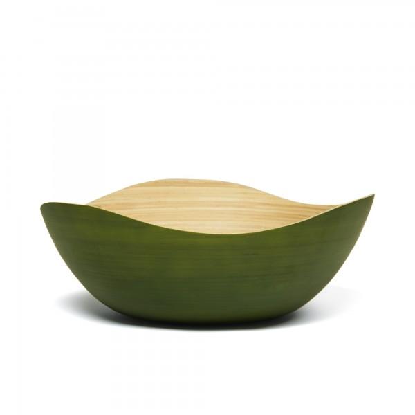 """Bambusschale """"Wave L"""", grün, L 30 cm, B 30 cm, H 11 cm"""