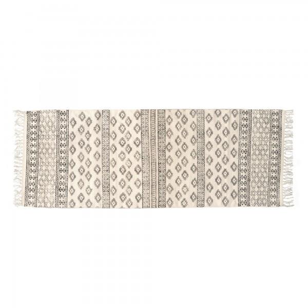 Läufer 'Tirur', braun, weiß, T 60 cm, B 180 cm