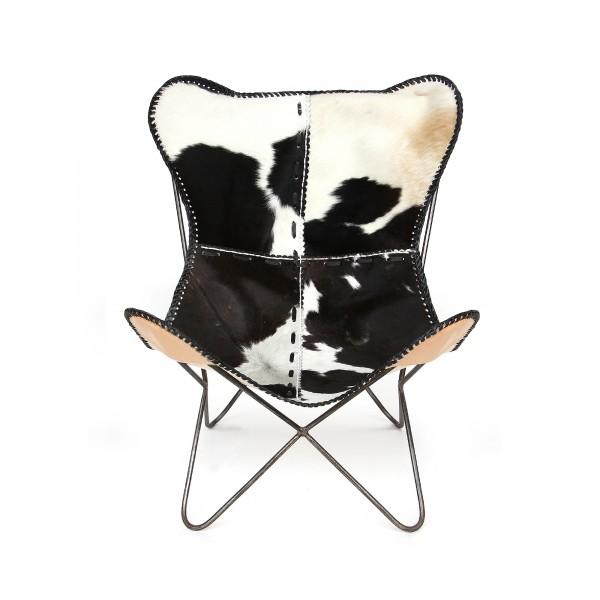 Lounger 'Sam', schwarz-weiß, vernickelt, T 76 cm, B 70 cm, H 90 cm