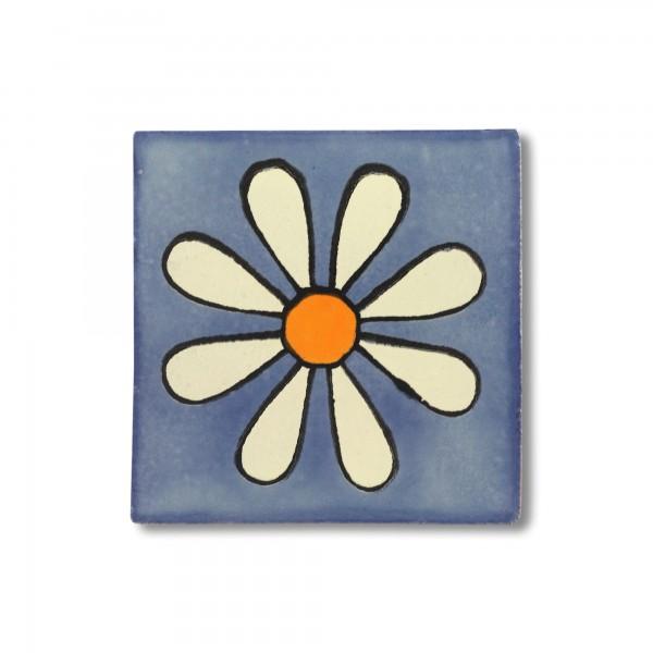 Kachel 'Margarita', blau, T 10 cm, B 10 cm, H 0,5 cm