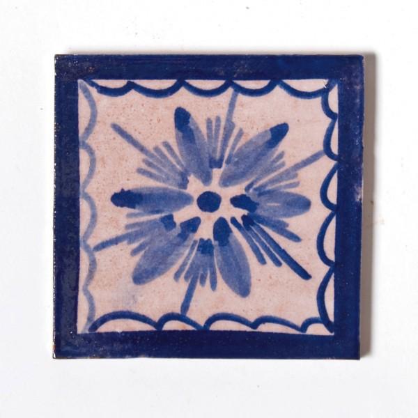 "Fliese ""vierge bleue"", blau/weiß, L 10 cm, B 10 cm, H 1cm"