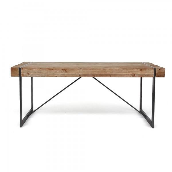 Tisch 'Winston', natur, schwarz, T 90 cm, B 200 cm, H 80 cm