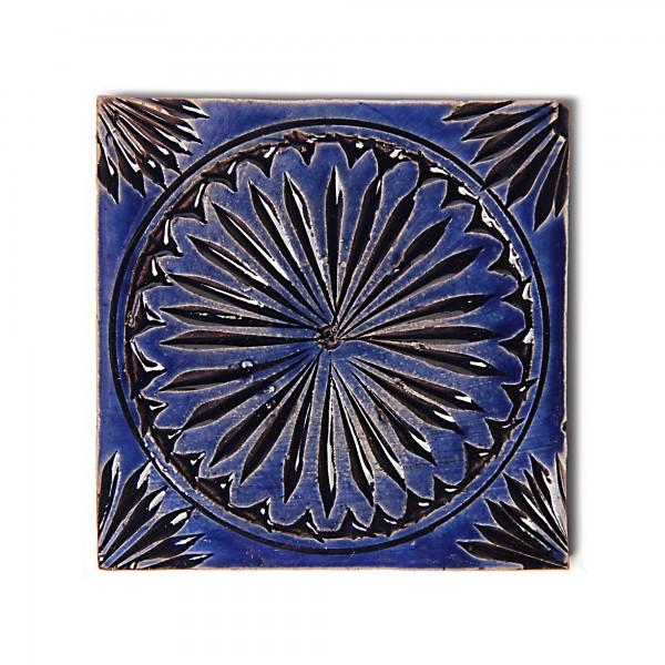 Fliese 'Rond Royale', blau, L 10 cm, B 10 cm, H 1 cm