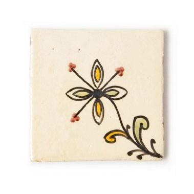 """Fliese """"petite fleur"""", vanille, L 10 cm, B 10 cm, H 1cm"""
