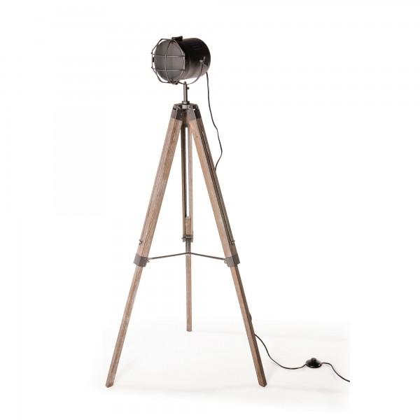 "Stehlampe ""Spotlight"", braun/geweißt, H 139 cm, B 65 cm"
