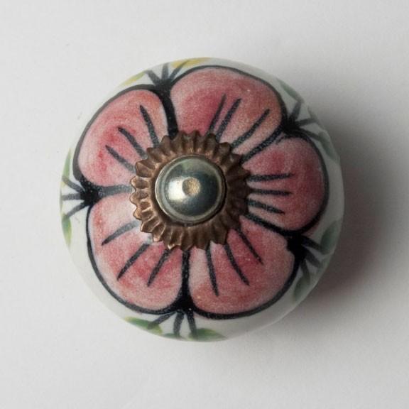 Türknauf rund, rot/grün, Ø 3,5 cm