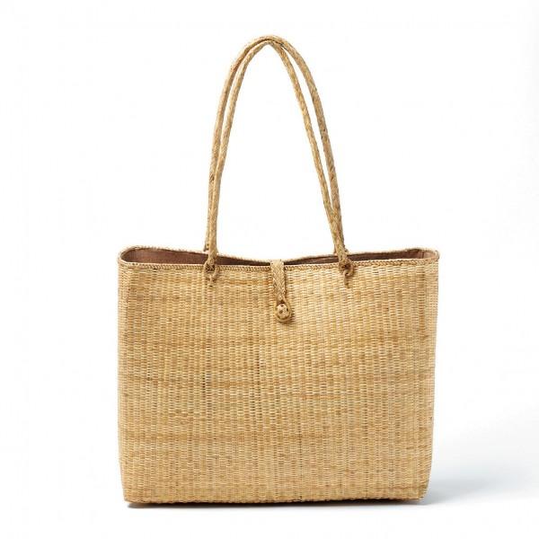 Damentasche mit Henkel, natur, B 40 cm, H 30 cm