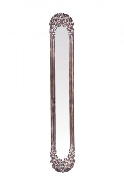 Spiegelrahmen, braun, T 3 cm, B 30 cm, H 179 cm