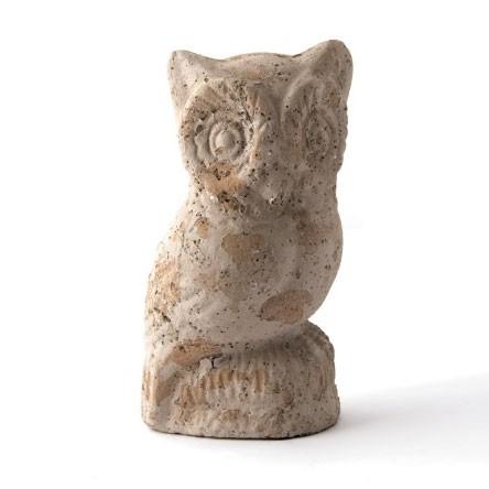 """Eule """"Hibou"""" aus Zement, H 19 cm"""