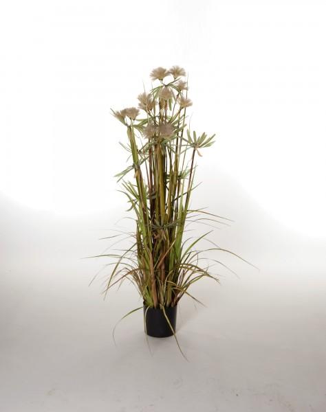Kunstpflanze 'Bambusgras', dunkel, H 120 cm