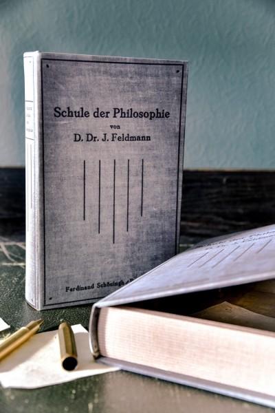Buch-Tresor 'Schule der Philosophie', L 5 cm, B 16 cm, H 24 cm