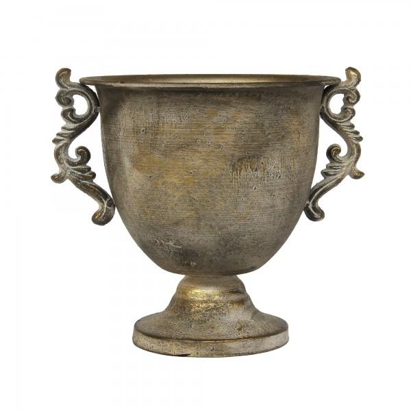 Vase 'Cairns', antikbronze, T 21 cm, B 27 cm, H 24 cm