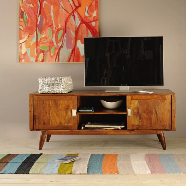 """TV-Board """"Motley"""" aus massivem Akazienholz, L 50 cm, B 150 cm, H 60 cm"""