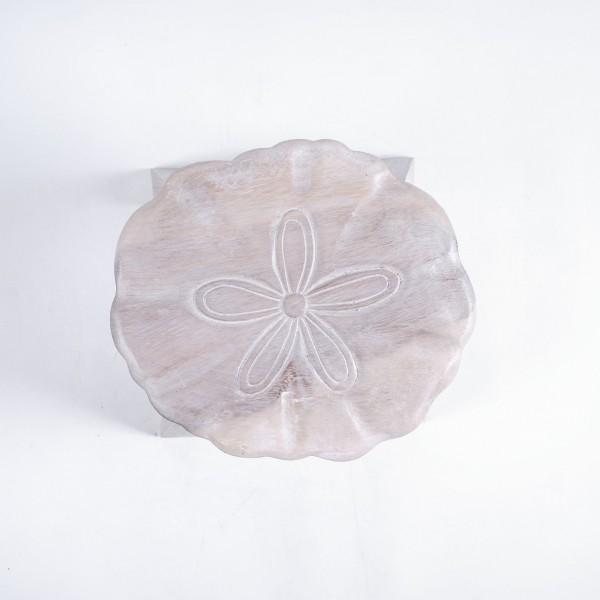 Massive kleine Hocker, weiß, H 25 cm, Ø 25 cm