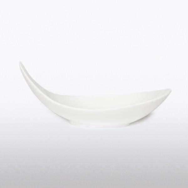 Schale 'Brio', weiß, T 12 cm, B 25 cm, H 10 cm