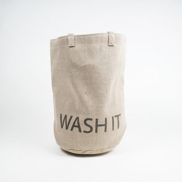 """Wäschekorb """"Wash it"""", beige, Ø 52 cm, H 52 cm"""