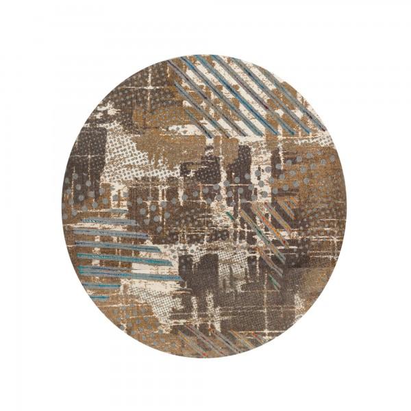 Teppich 'Balag', braun, weiß, T 120 cm, B 120 cm
