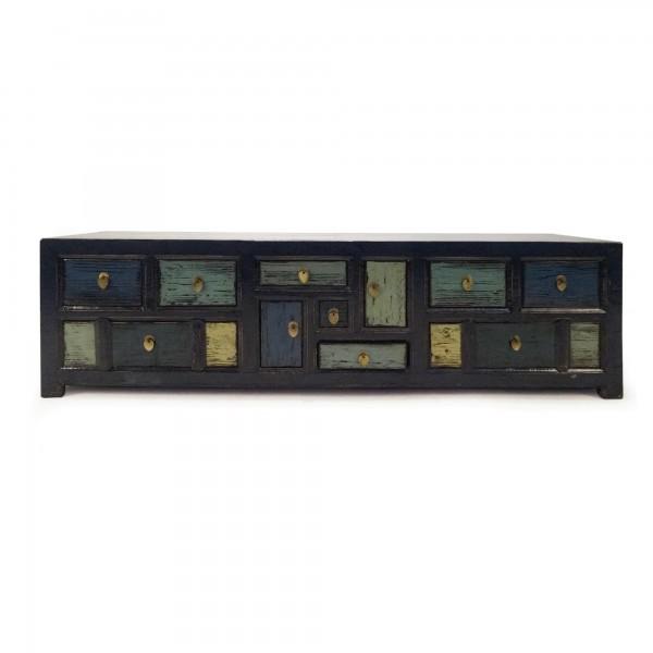 TV-Anrichte im chinesischen Stil, aus Ulmenholz, T 40 cm, B 180 cm, H 55 cm