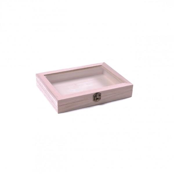 Box 'Scatola' mit Deckel, natur, L 13,5 cm, B 19 cm, H 3 cm