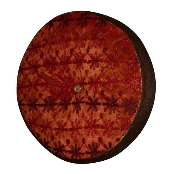 Sitzkissen rund, orange/rot, Ø 40 cm, H 10 cm