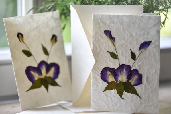 Grußkarte 'Blume', Neutral