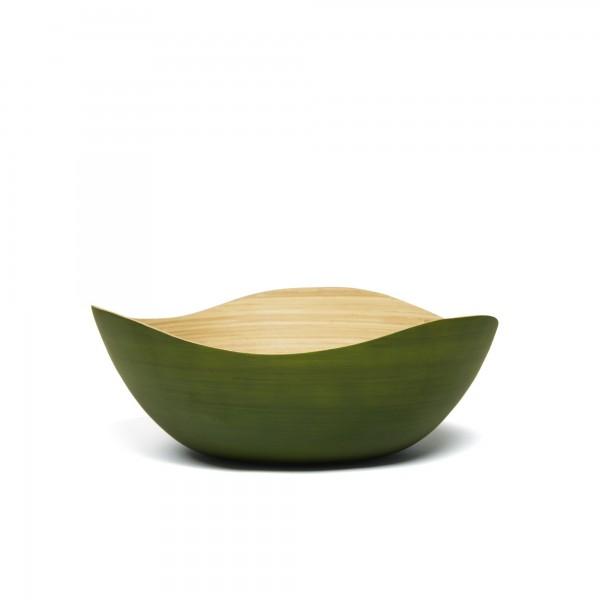 """Bambusschale """"Wave S"""", grün, L 25 cm, B 25 cm, H 10 cm"""