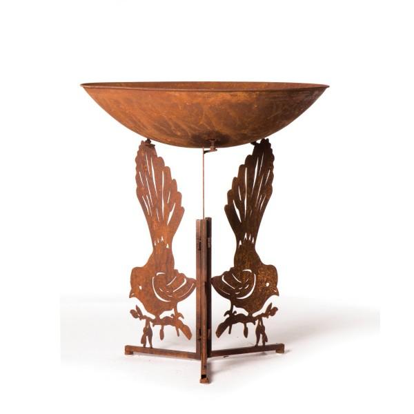 """Feuerschale """"Bird"""", rost, Ø 58 cm, H 65 cm"""