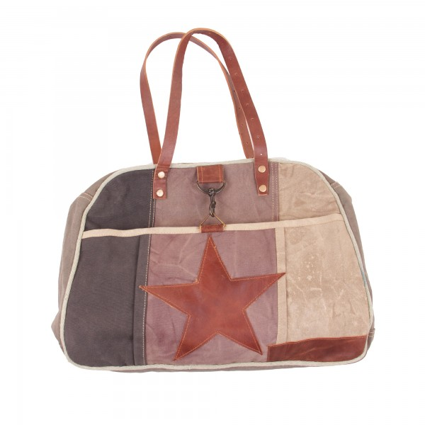 """Tasche """"One Star"""", beige/braun, B 46 cm, H 33 cm"""