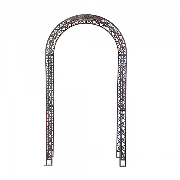 Rankbogen 'Bellevie', dunkelgrau, T 45 cm, B 116 cm, H 222 cm