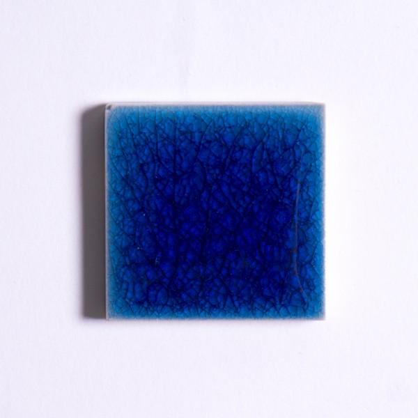 Fliese 'Craquele' dunkelblau, L 5 cm, B 5 cm