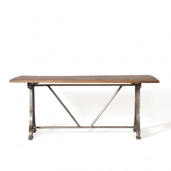 """Tisch """"Liverpool"""", silber/braun, H 76 cm, B 180 cm, T 90 cm"""