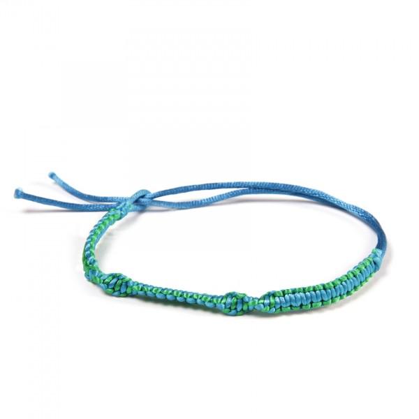 Armband 'Finn', aus Polyester, türkis, grün