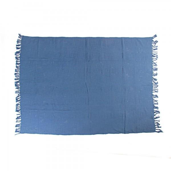 Throw 'Ladvel', blau, T 128 cm, B 180 cm