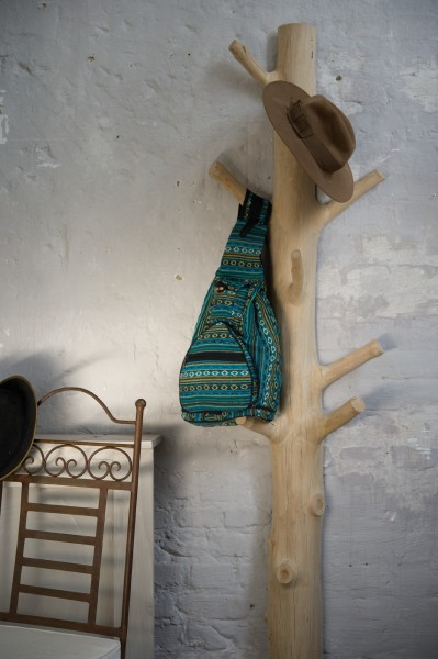 Garderobenbaum mit Sockel, natur, T 35 cm, B 35 cm, H 200 - 210 cm