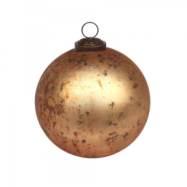 Anhänger Kugel M, gold, Ø 10 cm, H 10 cm
