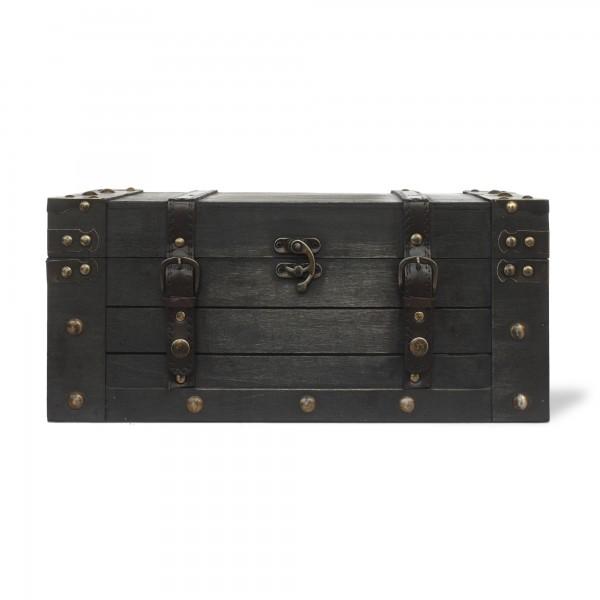 Koffertruhe 'Thoma' L, dunkelbraun, T 40 cm, B 23,5 cm, H 17,5 cm