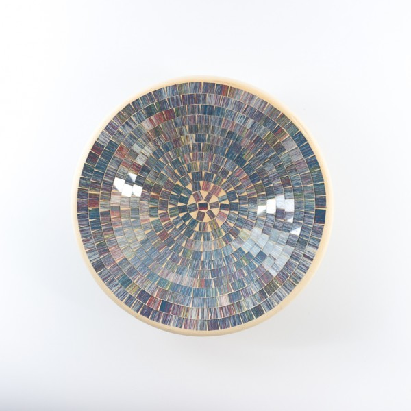 "Mosaikteller ""Regenbogen"", H 7 cm, Ø 29 cm"