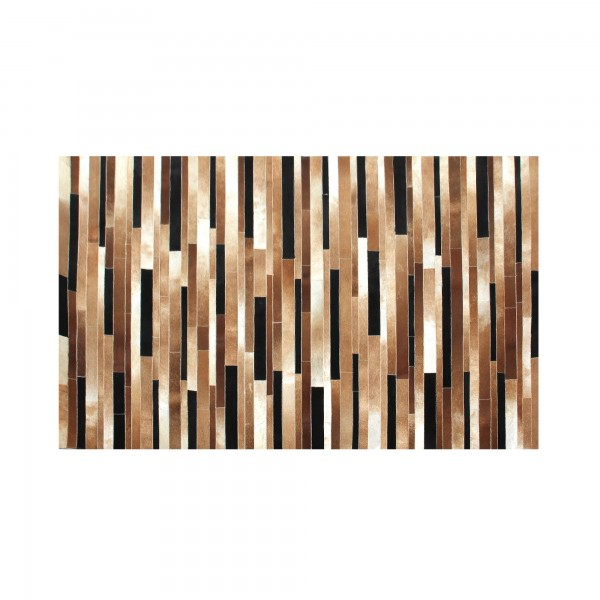 Teppich 'Lewis', schwarz, weiß, braun, T 140 cm, B 200 cm