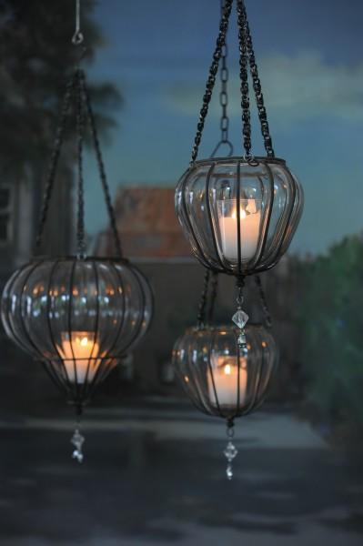 Teelichthalter, hängend, Ø 12 cm, H 14 cm