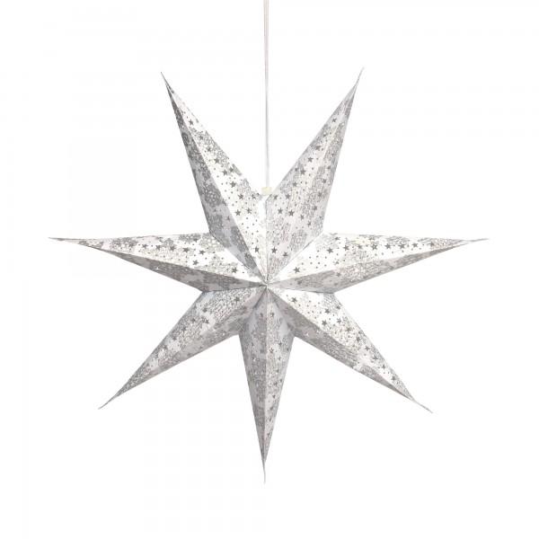 Papierlampe 'Krisamas', weiß, Ø 62 cm, H 13 cm