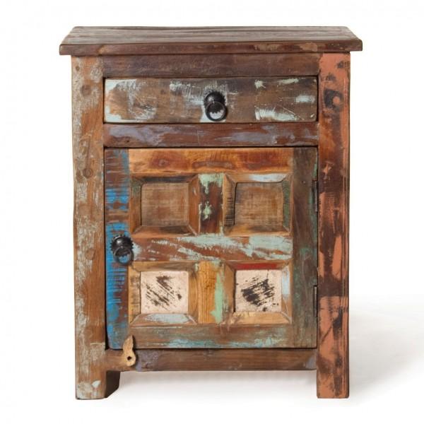 "Schränkchen ""Jarrow"" aus recyceltem Holz, L 40 cm, B 50 cm, H 60 cm"