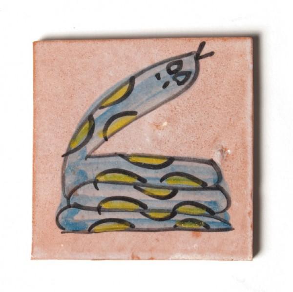 """Fliese """"Serpent"""", grün/blau, L 10 cm, B 10 cm, H 1 cm"""